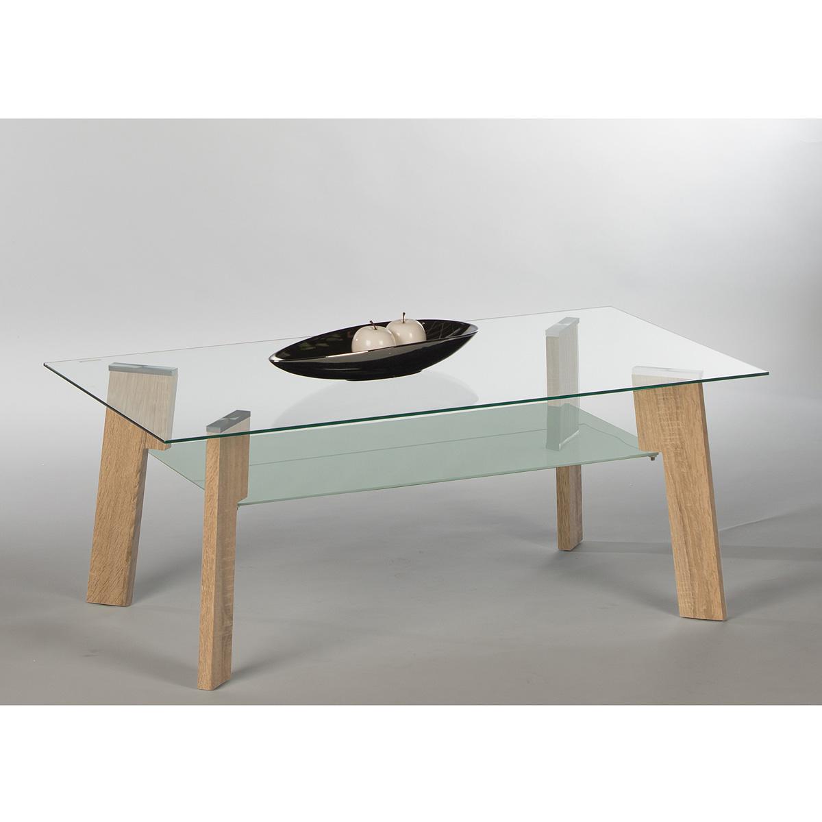 Couchtisch garry sonoma eiche glasplatte beistelltisch loungetisch ...