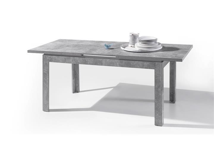 Esstisch stone esszimmer tisch k chentisch beton grau und for Tisch marmoroptik