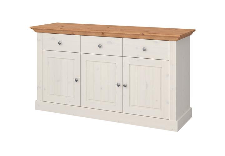 sideboard monaco kommode kiefer massiv wei white wash und. Black Bedroom Furniture Sets. Home Design Ideas