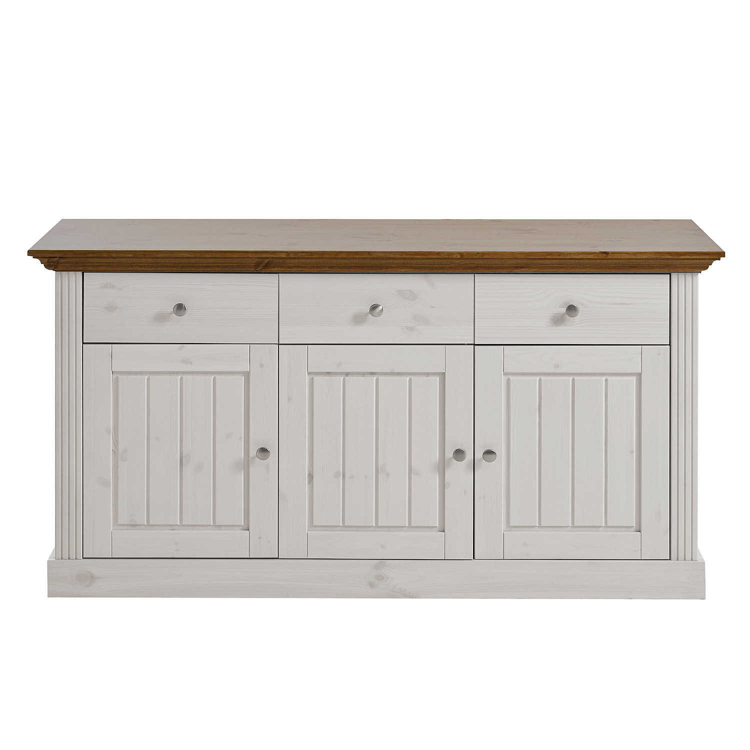 sideboard monaco kommode kiefer massiv wei white wash und provence ebay. Black Bedroom Furniture Sets. Home Design Ideas