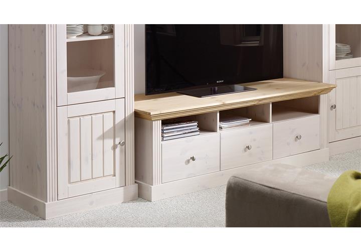 wohnwand monaco anbauwand kiefer massiv wei white wash und gelaugt ebay. Black Bedroom Furniture Sets. Home Design Ideas