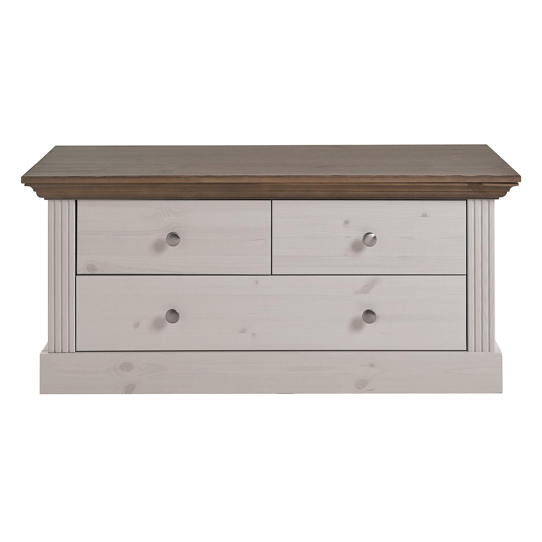 garderobenbank monaco schuhbank bank kiefer massiv white wash und stone ebay. Black Bedroom Furniture Sets. Home Design Ideas