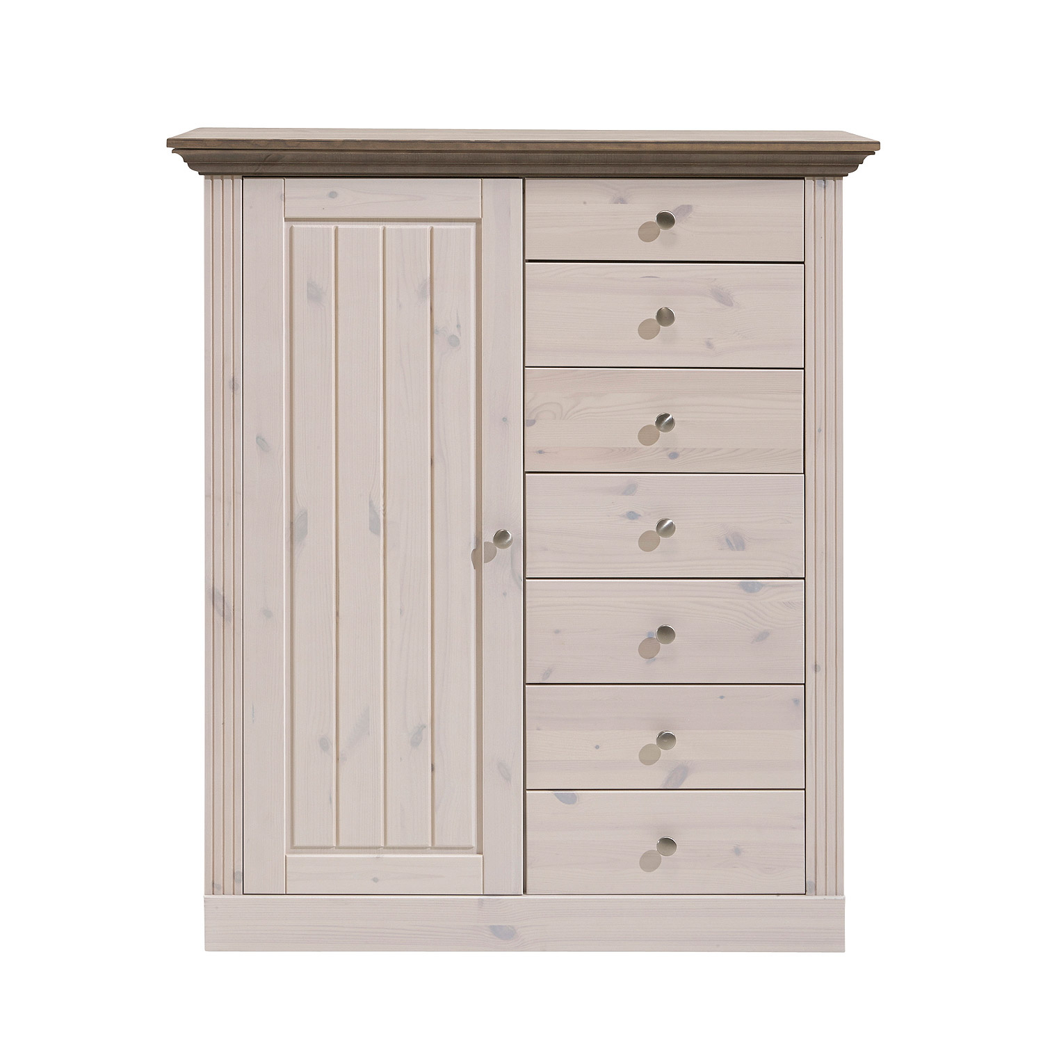 kommode monaco hochkommode highboard kiefer massiv white. Black Bedroom Furniture Sets. Home Design Ideas