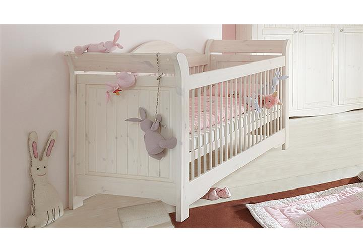 babyzimmer lotta babybett schrank regal wickelkommode kiefer massiv wei white w ebay. Black Bedroom Furniture Sets. Home Design Ideas