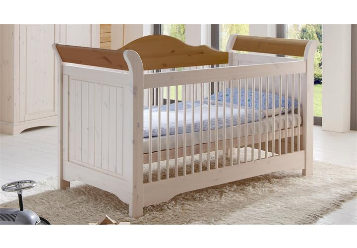 babyzimmer lotta babybett schrank wickelkommode kiefer massiv white wash provenc ebay. Black Bedroom Furniture Sets. Home Design Ideas