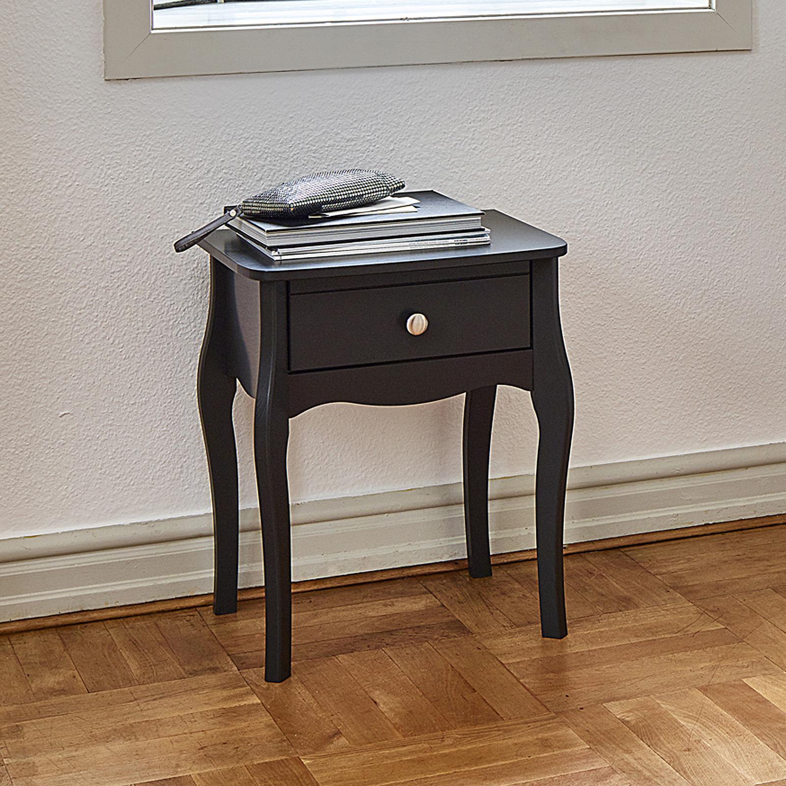 Nachttisch kommode frisiertisch baroque mdf schwarz braun - Frisiertisch schwarz ...