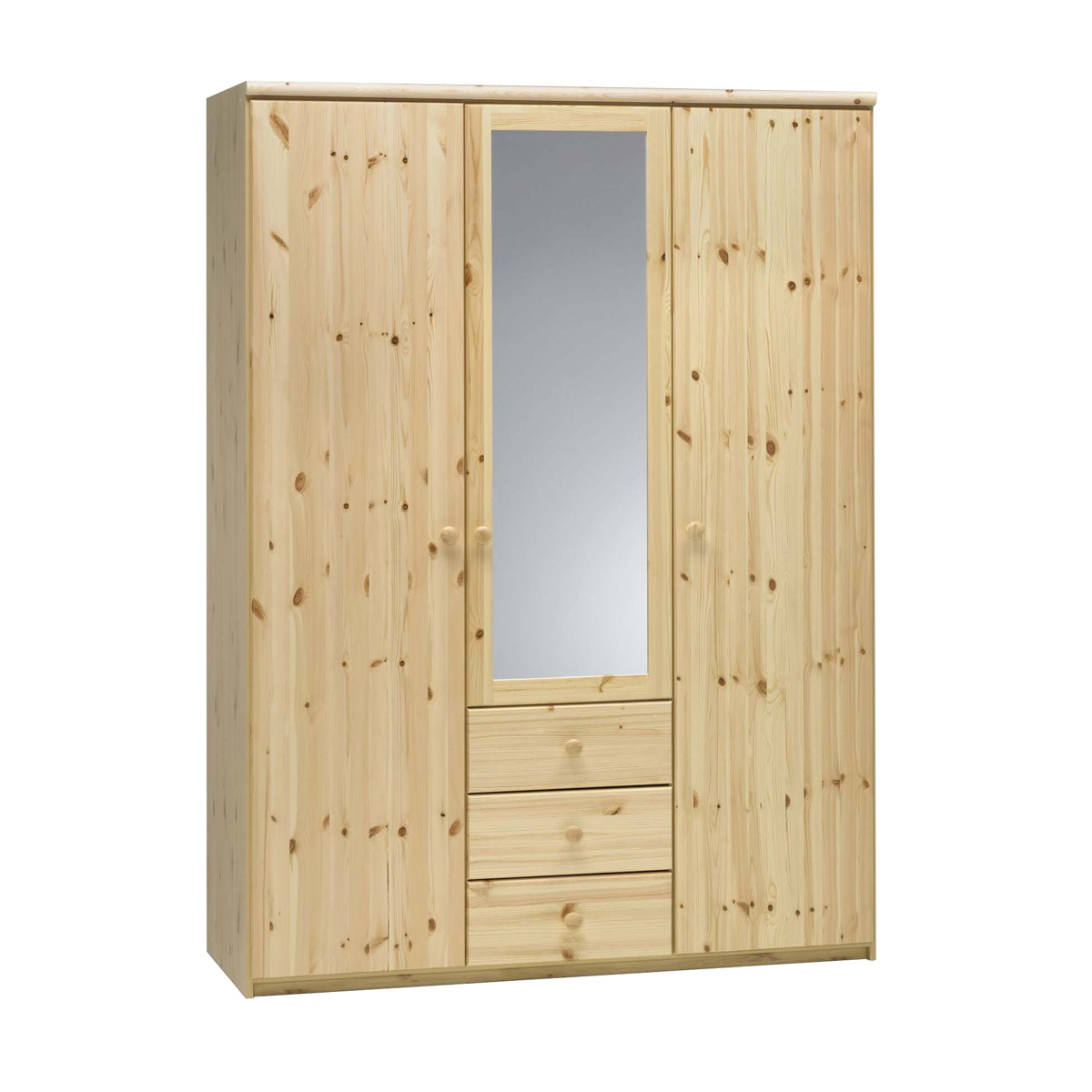 kleiderschrank axel dreht renschrank schrank in kiefer massiv und natur lackiert ebay. Black Bedroom Furniture Sets. Home Design Ideas