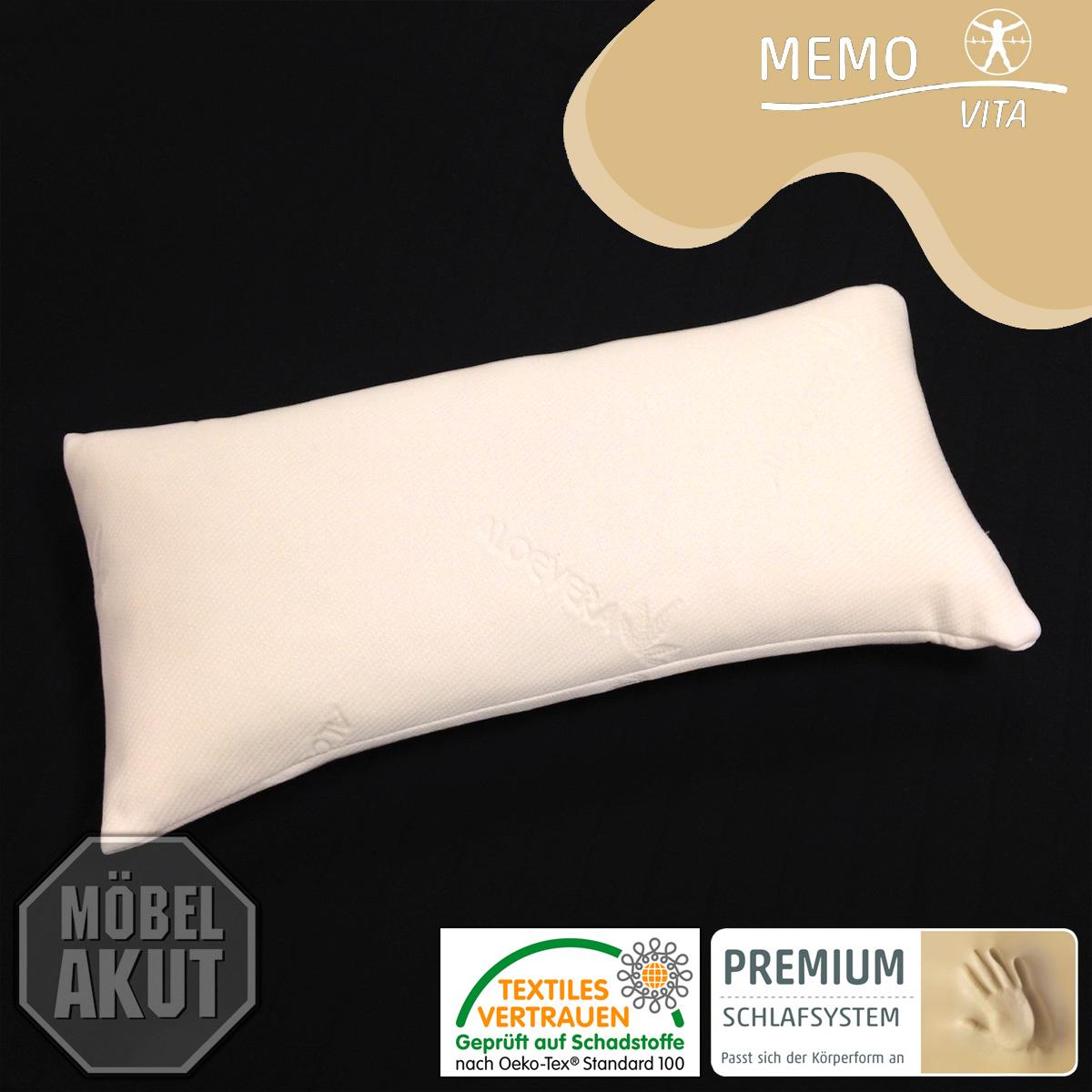schlafkissen triton memovita kissen viskoelastisch 40x80 cm ebay. Black Bedroom Furniture Sets. Home Design Ideas