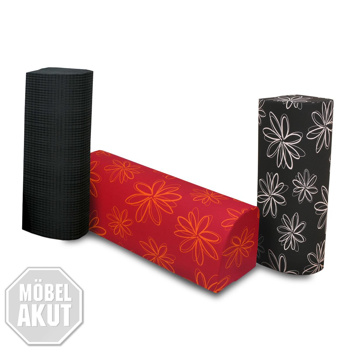r ckenkissen 2er set chilly umbaukissen kissen rot schwarz anthrazit farbausw ebay. Black Bedroom Furniture Sets. Home Design Ideas