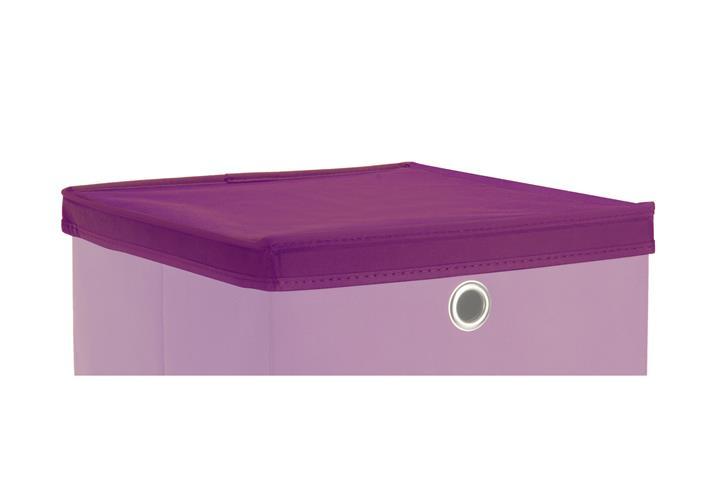 faltbox deckel kubus f r boxen mit 32x32 cm lila f r. Black Bedroom Furniture Sets. Home Design Ideas