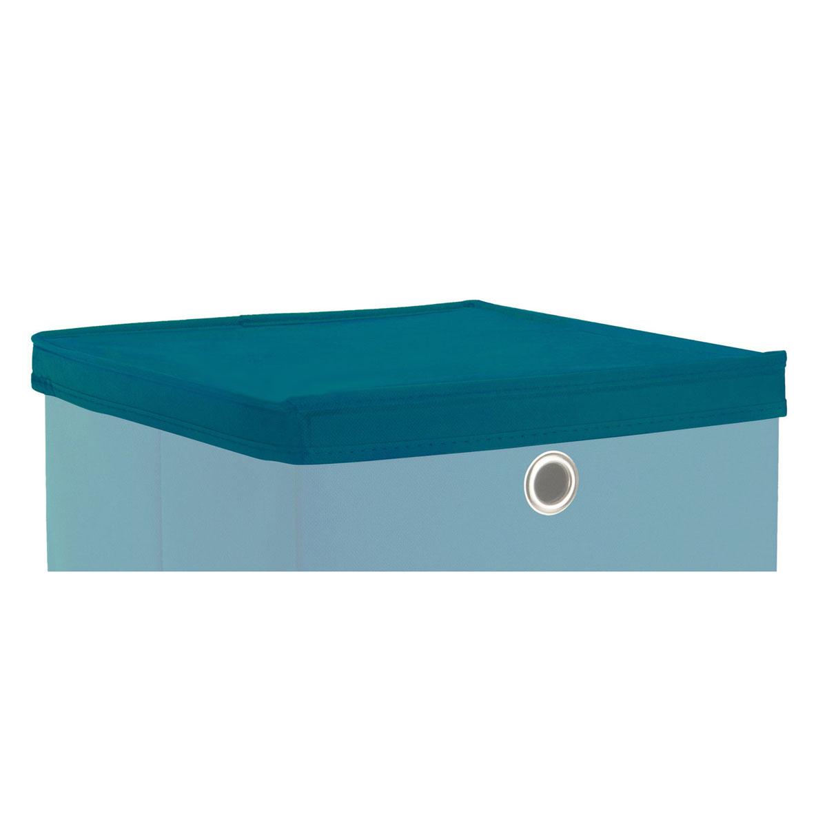 faltbox deckel kubus f r boxen mit 32x32 cm petrol f r. Black Bedroom Furniture Sets. Home Design Ideas