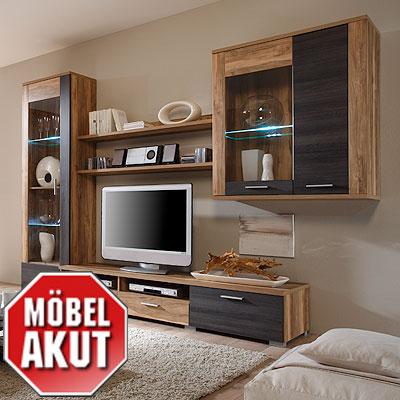 wohnwand studio anbauwand in touchwood nussbaum neu ebay. Black Bedroom Furniture Sets. Home Design Ideas
