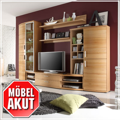 wohnwand avaro anbauwand in kernbuche massiv neu ebay. Black Bedroom Furniture Sets. Home Design Ideas