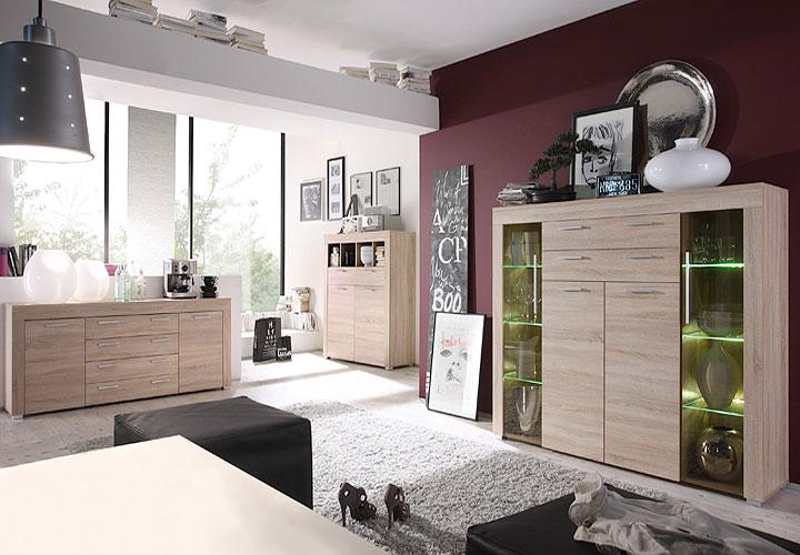 sideboard boom kommode wohnzimmer schrank in sonoma eiche s gerau hell eur 199 95 picclick de. Black Bedroom Furniture Sets. Home Design Ideas