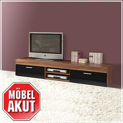 lowboard nussbaum schwarz. Black Bedroom Furniture Sets. Home Design Ideas