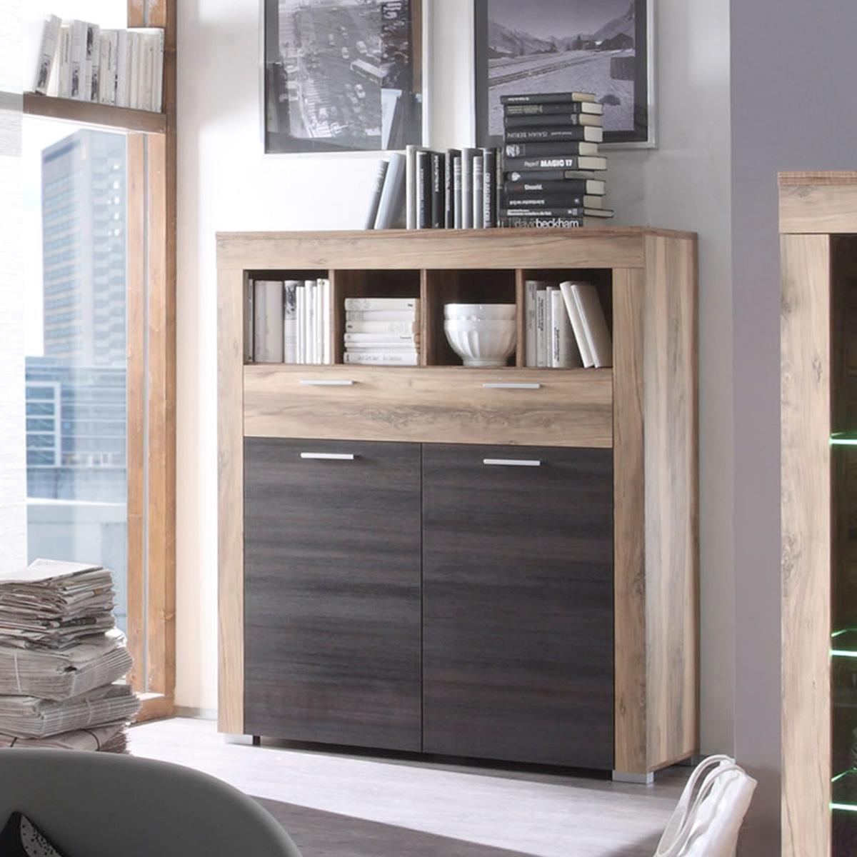 kommode boom schrank in nussbaum satin braun touchwood ebay. Black Bedroom Furniture Sets. Home Design Ideas