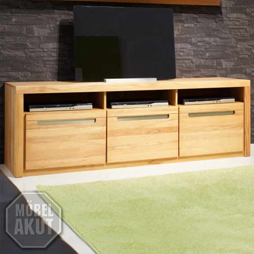 tv board gladia lowboard tv regal kern buche massiv mit lamellen ebay. Black Bedroom Furniture Sets. Home Design Ideas