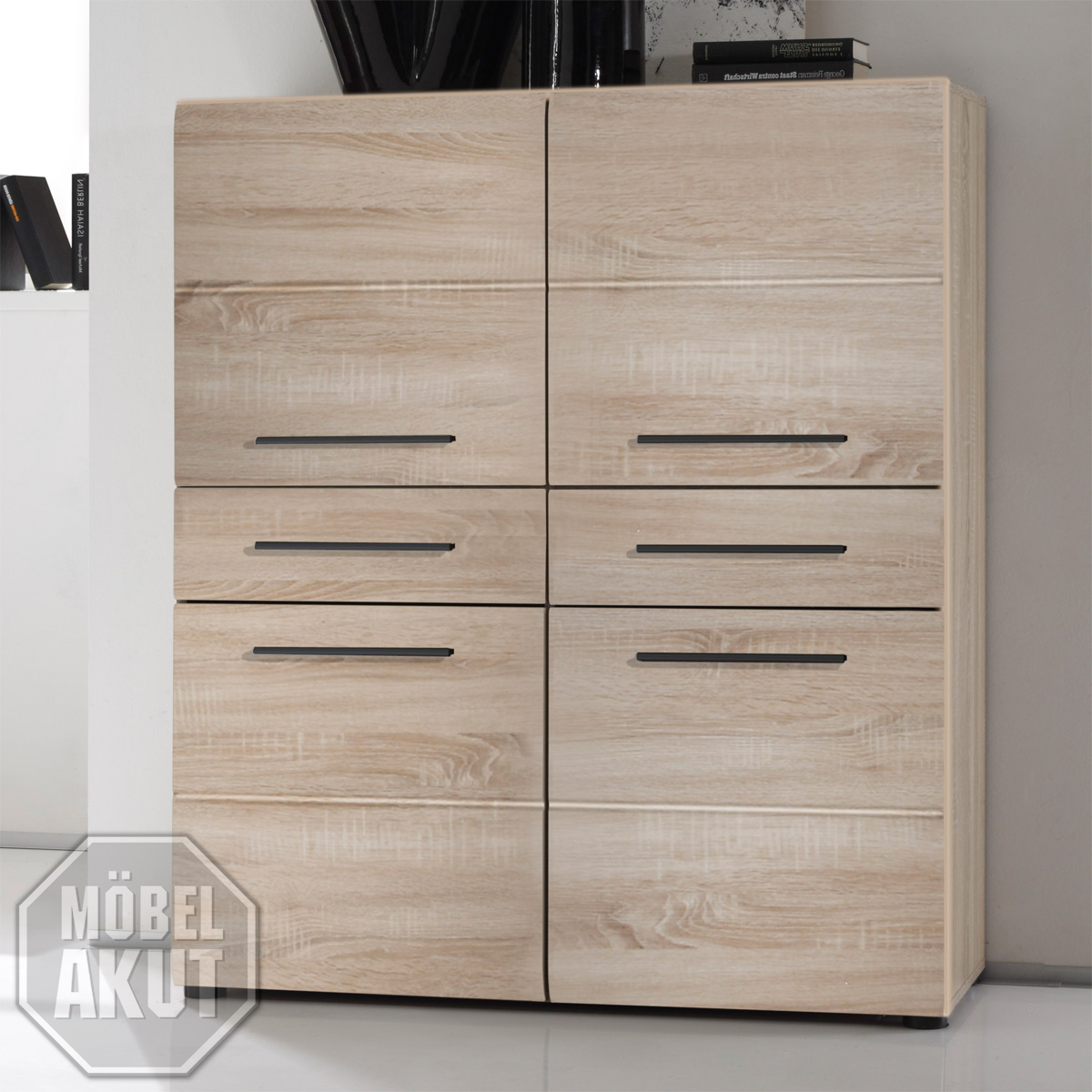 highboard ii anoma anrichte kommode in sonoma eiche s gerau hell tiefzieh ebay. Black Bedroom Furniture Sets. Home Design Ideas