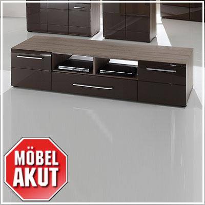 tv board anoma lowboard unterschrank sonoma eiche s gerau dunkel braun hochglanz ebay. Black Bedroom Furniture Sets. Home Design Ideas