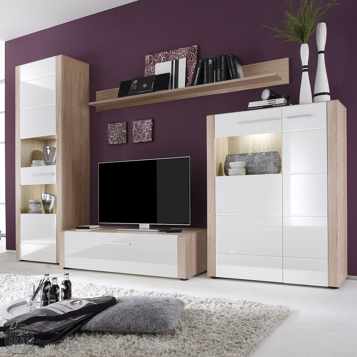 wohnwand massiv angebote auf waterige. Black Bedroom Furniture Sets. Home Design Ideas