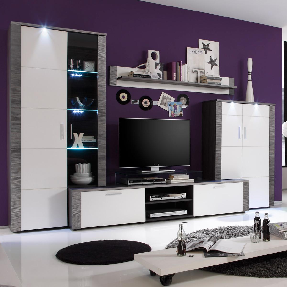 yarial.com = roller wohnwand grau ~ interessante ideen für die ... - Wohnwand Grau Ideen