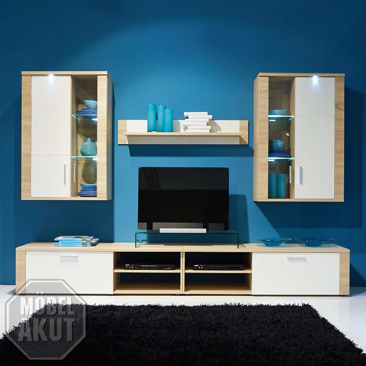 Wohnwand Eiche Sagerau ~ Home Design und Möbel Interieur Inspiration