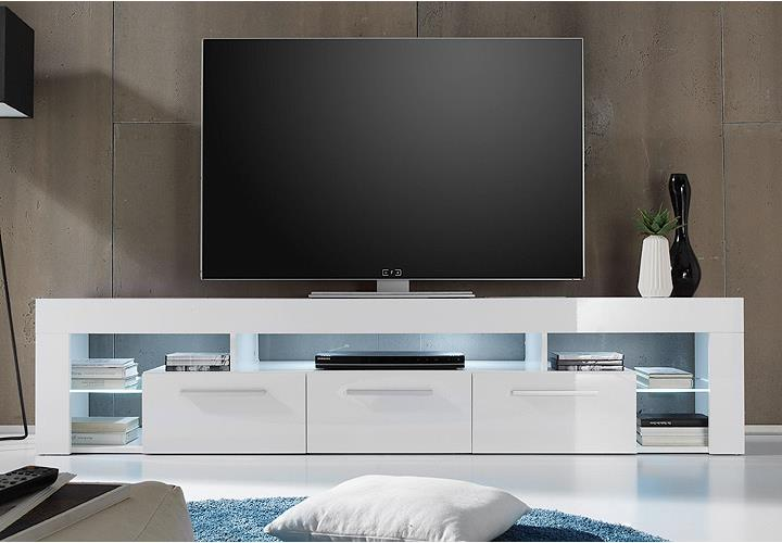 tv lowboard weiss led. Black Bedroom Furniture Sets. Home Design Ideas