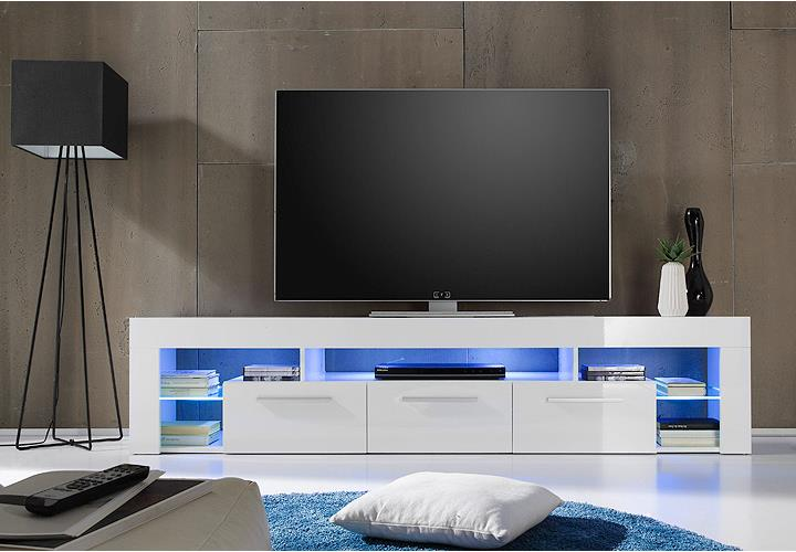 lowboard score kommode tv board in wei hochglanz breite 200 cm ebay. Black Bedroom Furniture Sets. Home Design Ideas