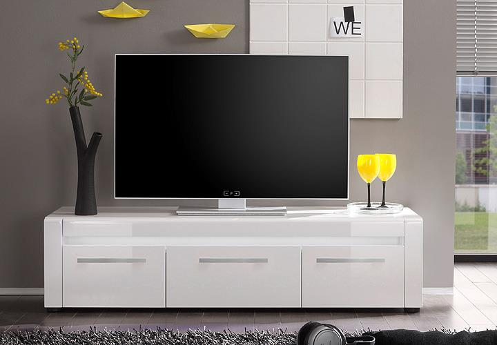 tv board lowboard tommy fernsehtisch wei hochglanz tiefzieh eur 139 95 picclick de. Black Bedroom Furniture Sets. Home Design Ideas