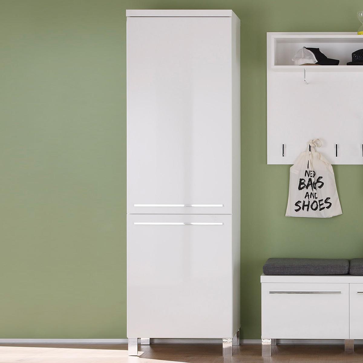 garderobenschrank derby schrank garderobe dielenschrank wei hochglanz tiefzieh ebay. Black Bedroom Furniture Sets. Home Design Ideas