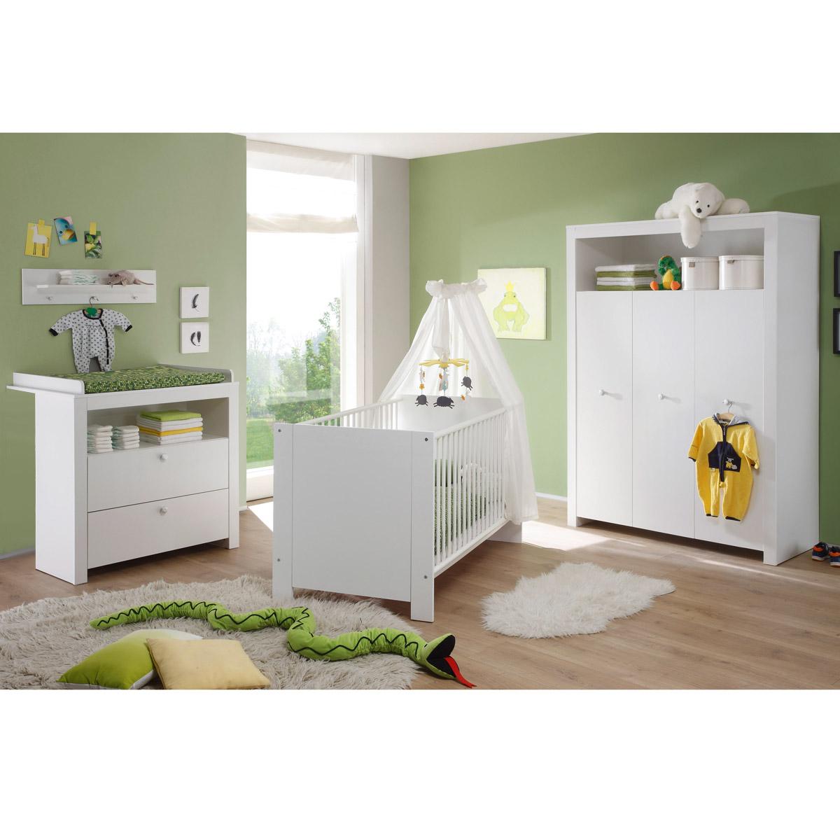 Babyzimmer Olivia Wickelkommode Babybett Kleiderschrank ... | {Kinderzimmer set 38}