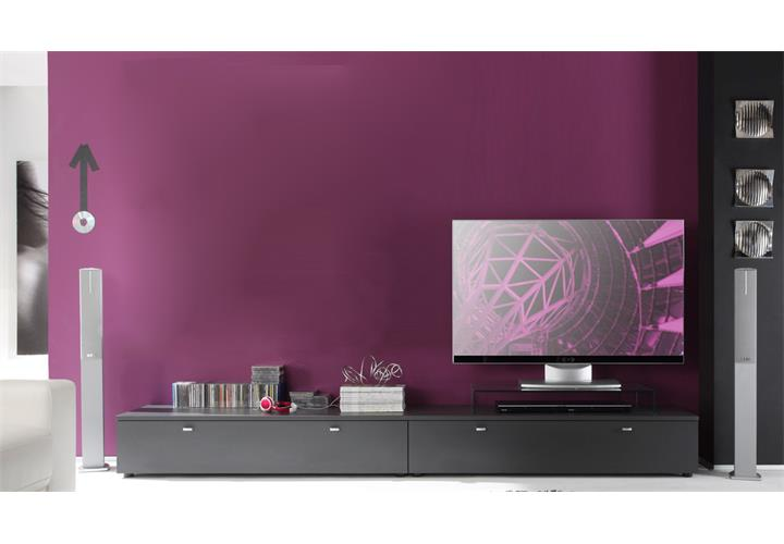 tv board tetis wohnzimmer lowboard kombinatuon graphit. Black Bedroom Furniture Sets. Home Design Ideas