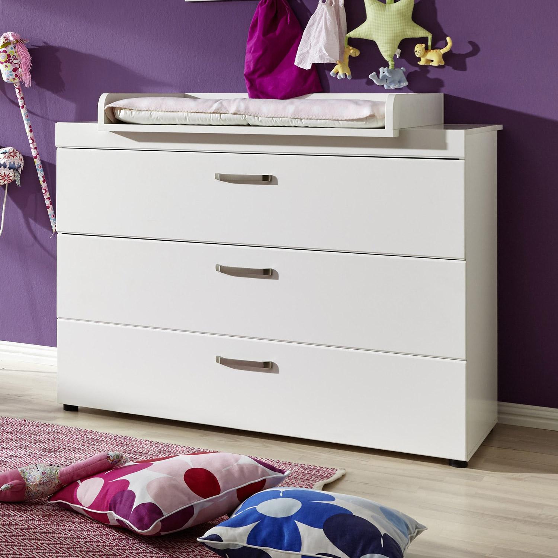 wickelkommode luccas wickeltisch wei matt mit schubk sten ebay. Black Bedroom Furniture Sets. Home Design Ideas