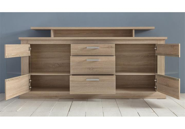 sideboard montreal anrichte in eiche s gerau hell kommode esszimmer wohnzimmer ebay. Black Bedroom Furniture Sets. Home Design Ideas