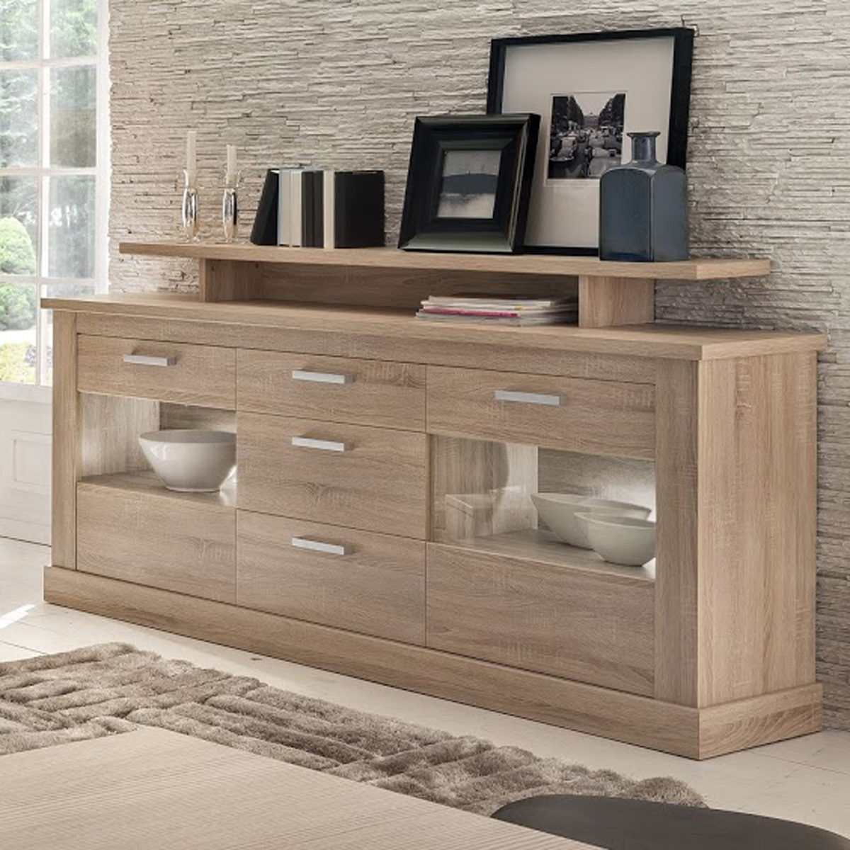sideboard montreal anrichte in eiche s gerau hell kommode. Black Bedroom Furniture Sets. Home Design Ideas