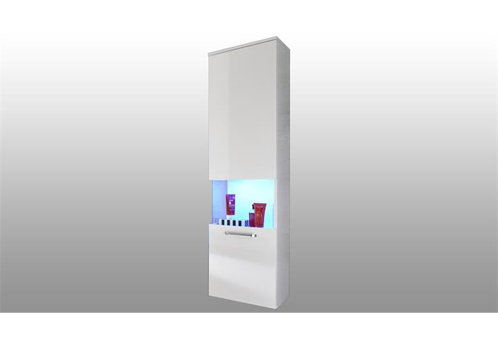 bad h ngeschrank sky badschrank in wei hochglanz badezimmer badvitrine badm bel ebay. Black Bedroom Furniture Sets. Home Design Ideas