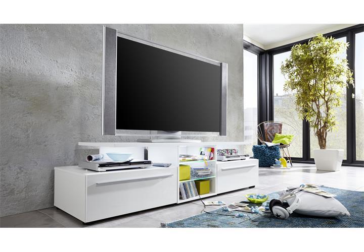 tv lowboard version in wei hochglanz tv board unterteil. Black Bedroom Furniture Sets. Home Design Ideas