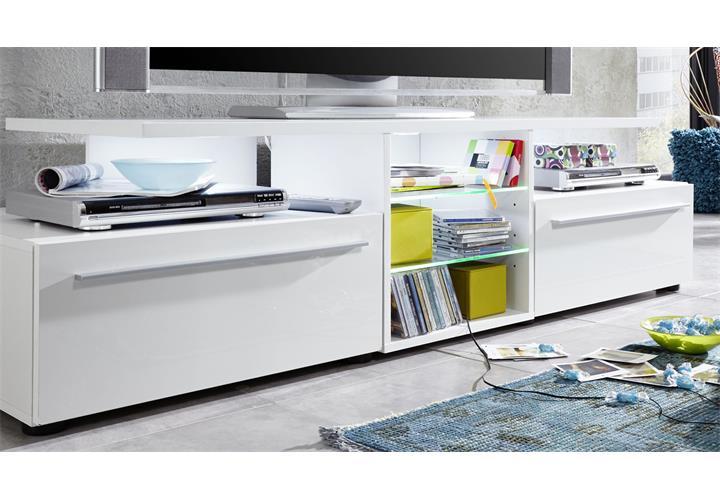 tv lowboard version in wei hochglanz unterteil unterschrank tv board tv m bel ebay. Black Bedroom Furniture Sets. Home Design Ideas