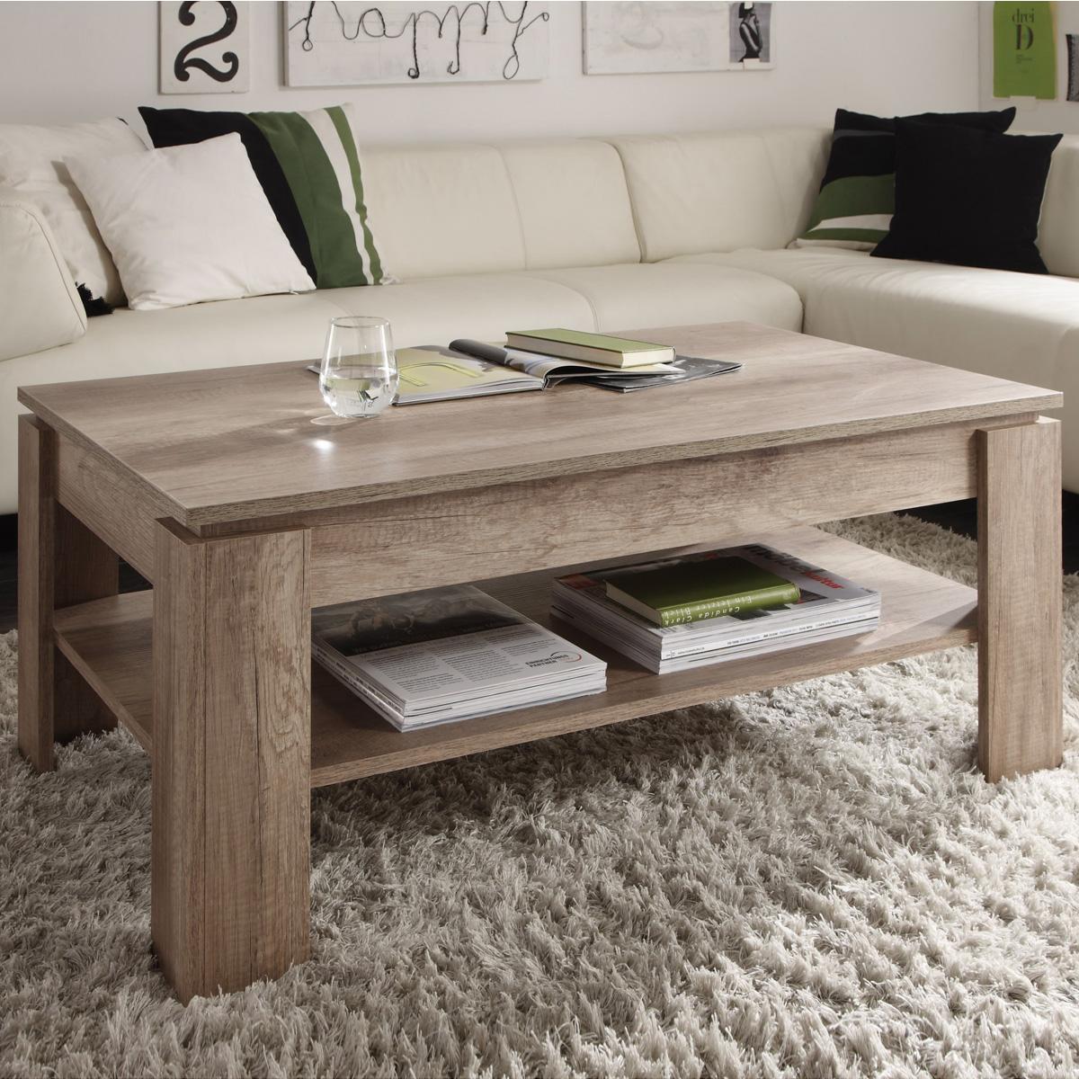couchtisch universal mit ablage wohnzimmer tisch beistelltisch sofatisch ebay. Black Bedroom Furniture Sets. Home Design Ideas