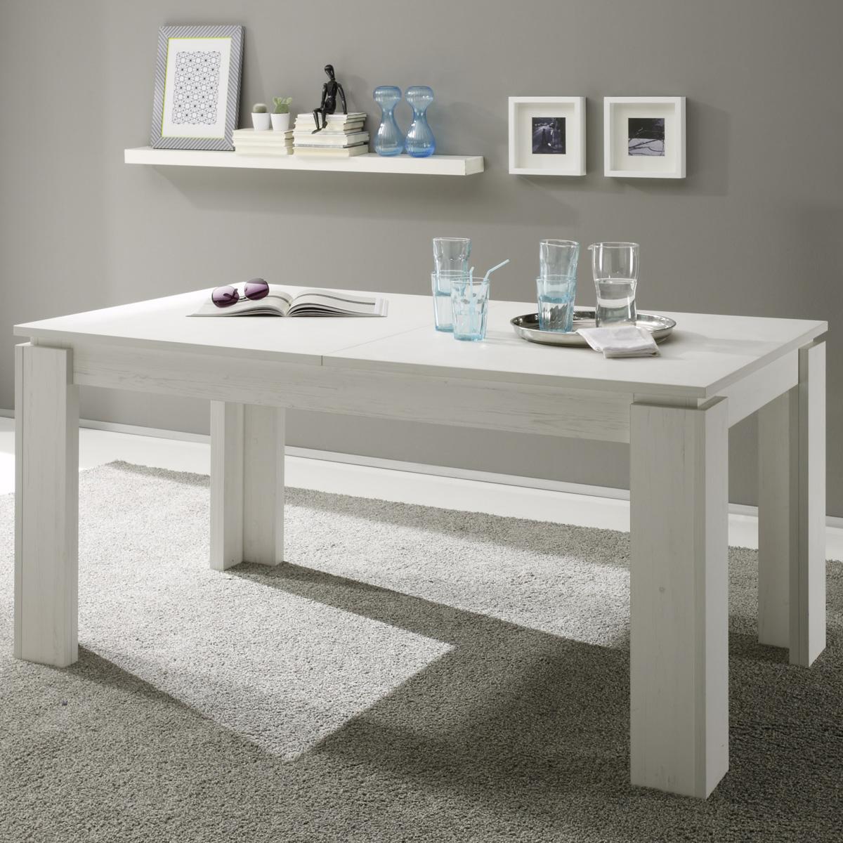 esstisch universal pinie struktur wei ausziehtisch esszimmer tisch k chentisch ebay. Black Bedroom Furniture Sets. Home Design Ideas