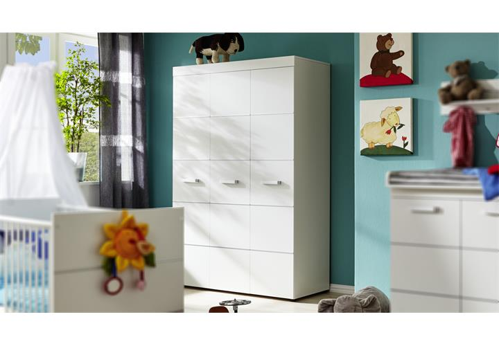 kleiderschrank leony schrank babyzimmer kinderzimmer wei 3 t rig ebay. Black Bedroom Furniture Sets. Home Design Ideas