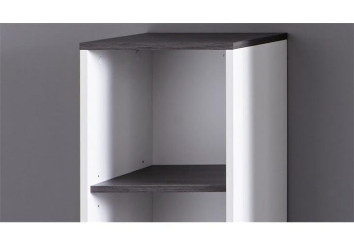 bad regal san diego in wei melamin rauchsilber badschrank badezimmer ebay. Black Bedroom Furniture Sets. Home Design Ideas