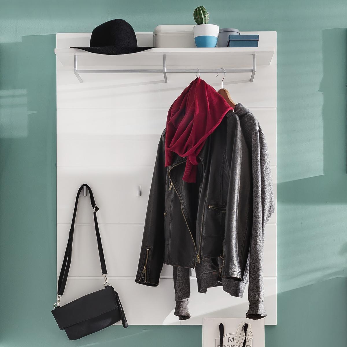 garderobenpaneel 1 amanda wandgarderobe in wei hochglanz paneel garderobe flur ebay. Black Bedroom Furniture Sets. Home Design Ideas