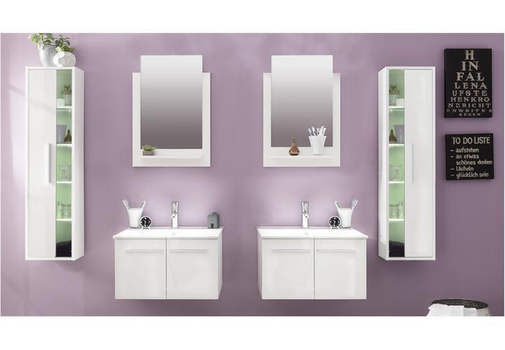 badezimmer set ttb 03 wei glanz 6 tlg badm bel inklusive porzellan waschbecken. Black Bedroom Furniture Sets. Home Design Ideas