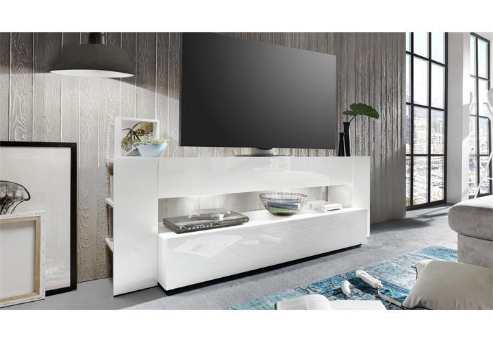 tv lowboard onyx in wei hochglanz tv board lowboard tv m bel fernsehtisch eur 219 95. Black Bedroom Furniture Sets. Home Design Ideas