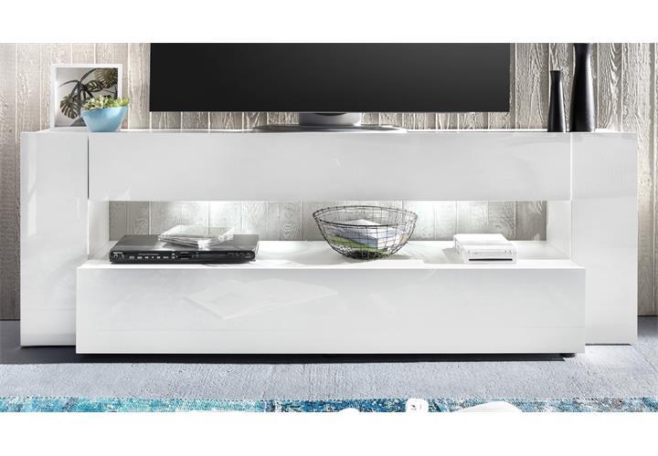 tv lowboard onyx tv board lowboard in wei hochglanz tv m bel led beleuchtung ebay. Black Bedroom Furniture Sets. Home Design Ideas