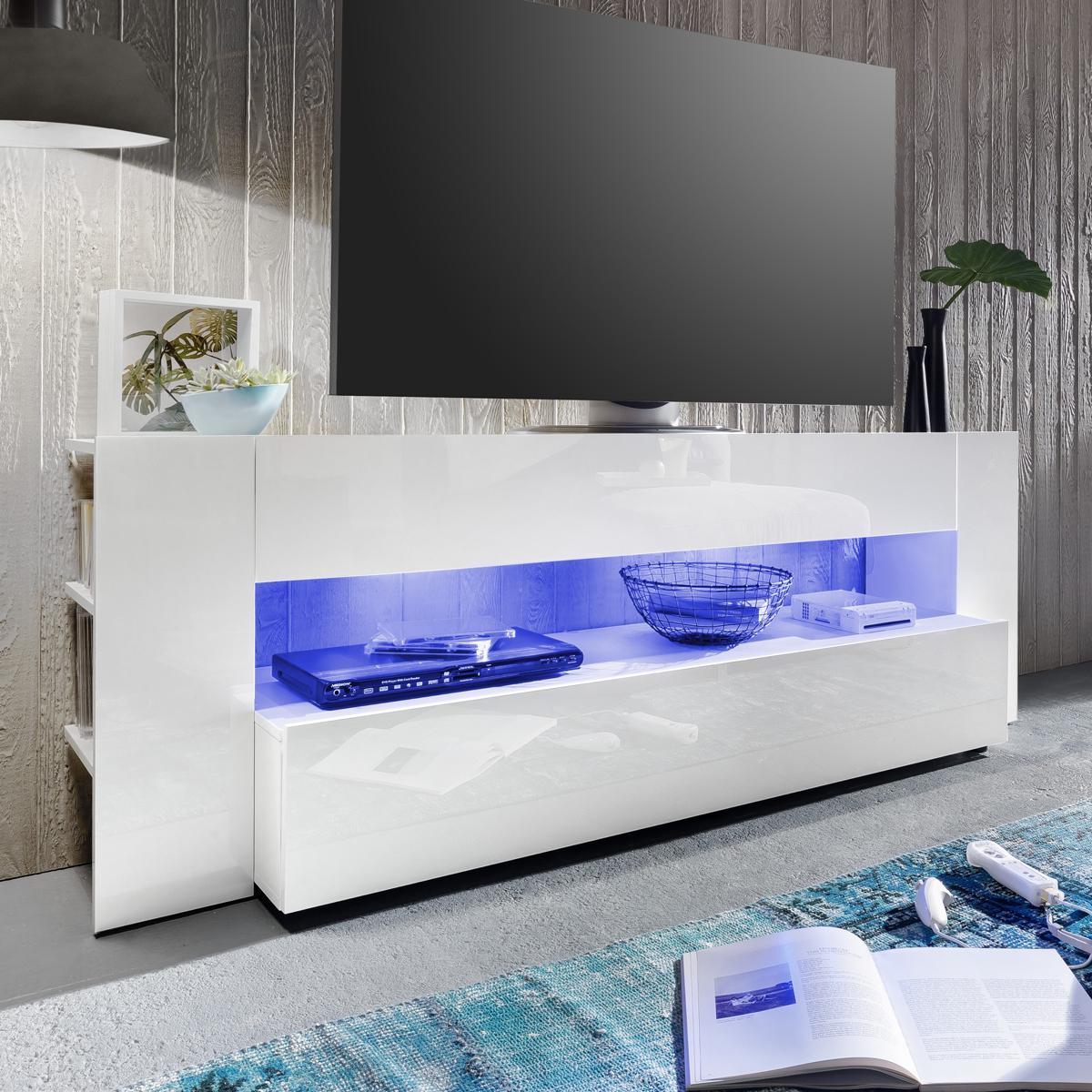 tv lowboard onyx tv board lowboard in wei hochglanz tv. Black Bedroom Furniture Sets. Home Design Ideas