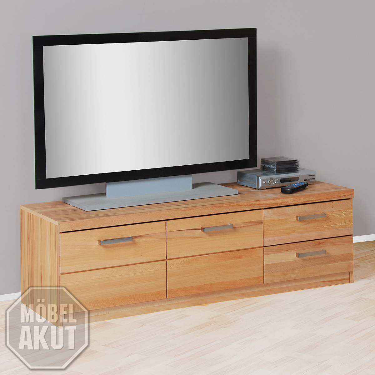 tv board 2 charlotte lowboard tv regal hifi m bel in kernbuche teilmassiv ebay. Black Bedroom Furniture Sets. Home Design Ideas