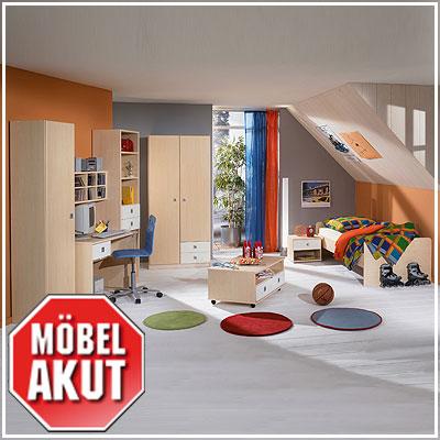 6 tlg jugendzimmer eddi kinderzimmer ahorn wei ebay. Black Bedroom Furniture Sets. Home Design Ideas