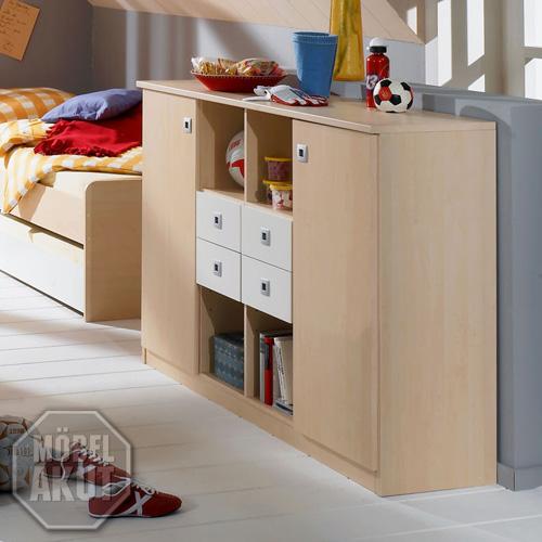 sideboard eddi kommode in ahorn wei neu ovp ebay. Black Bedroom Furniture Sets. Home Design Ideas